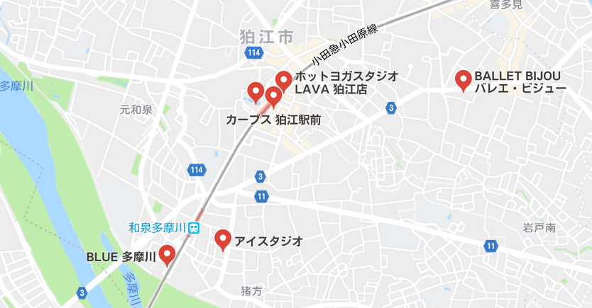 ヨガ狛江マップ