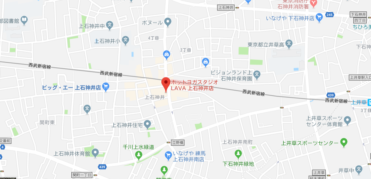 ヨガ上石神井マップ