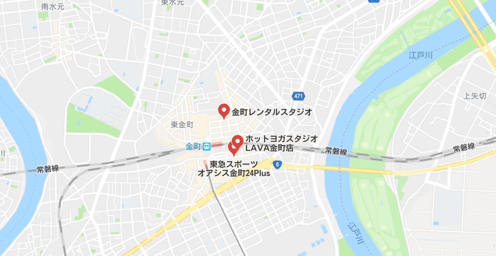 ヨガ金町マップ