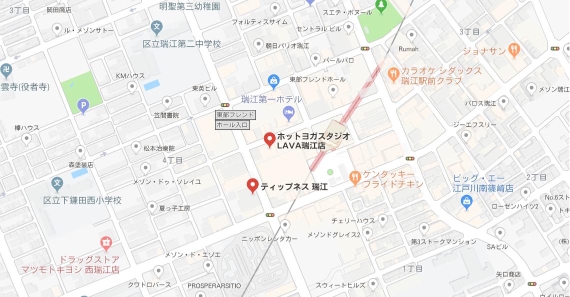 ヨガ瑞江マップ