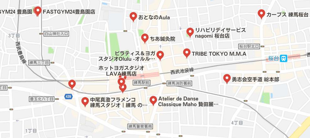 ヨガ練馬マップ