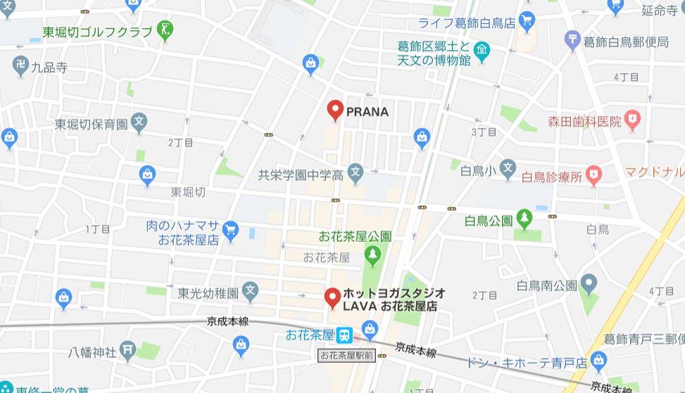 ヨガお花茶屋マップ