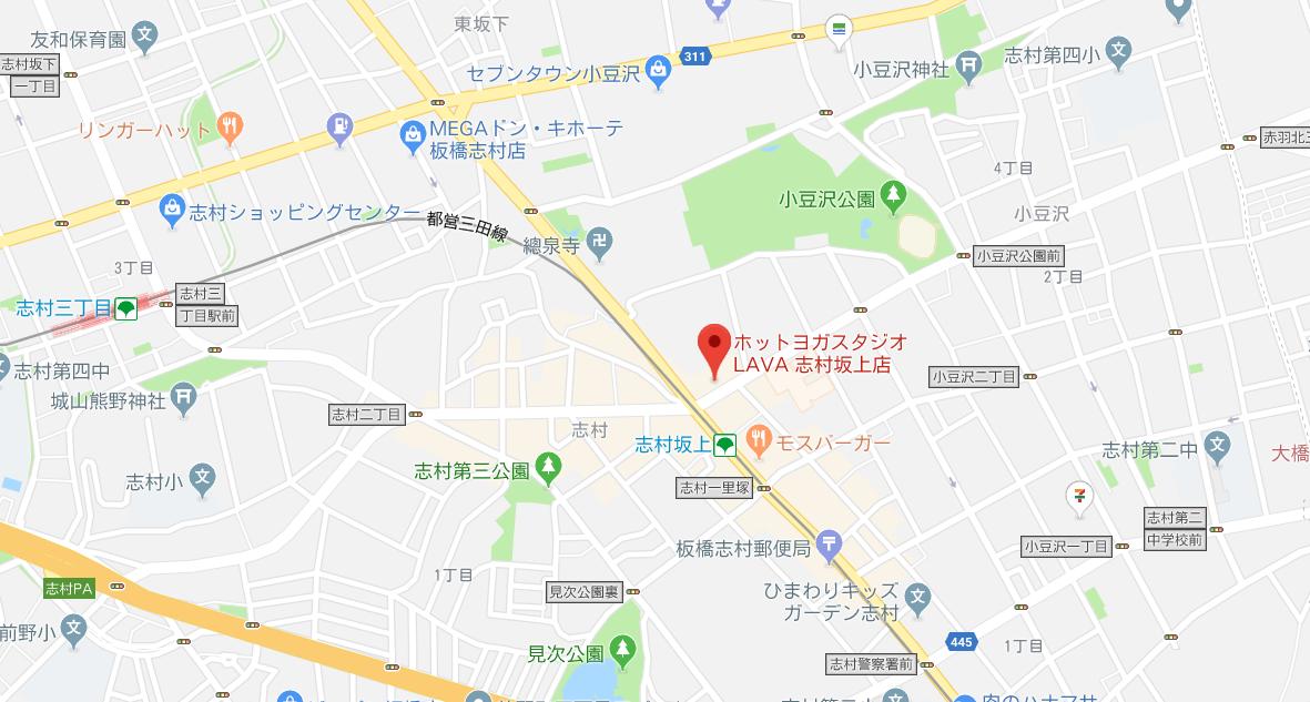 志村坂上駅周辺のヨガマップ