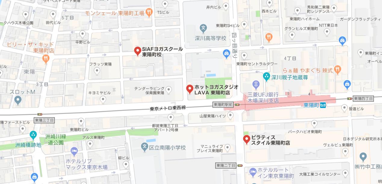ヨガ東陽町マップ