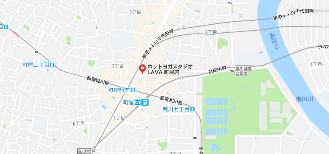 ヨガ町屋マップ検索結果