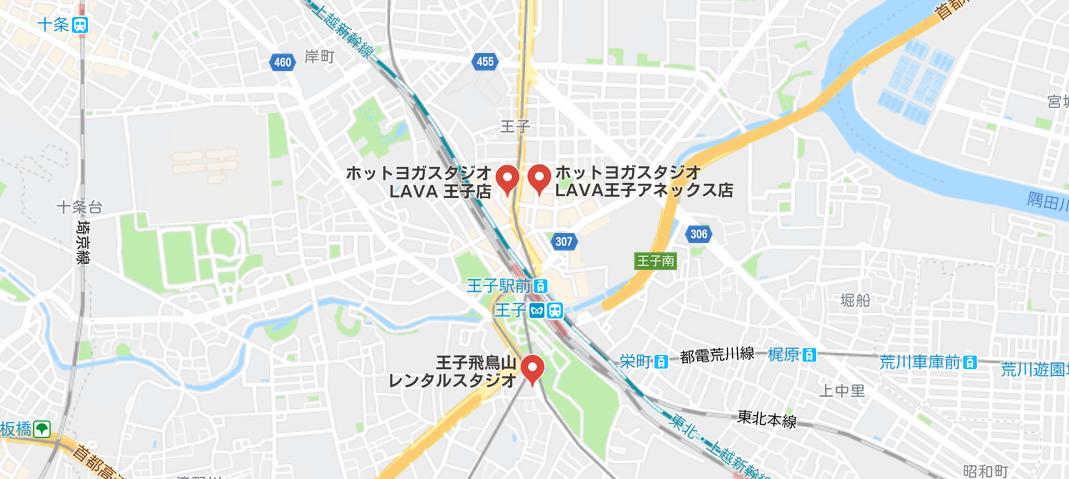 ヨガ王子の地図検索