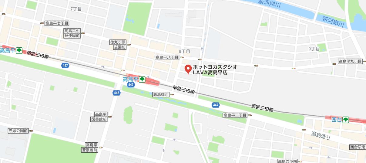 ヨガ高島平マップ