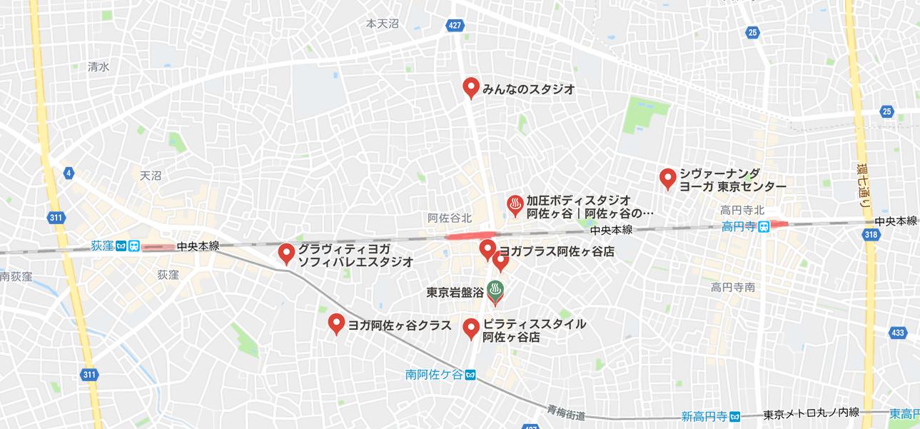 ヨガ阿佐ヶ谷マップ