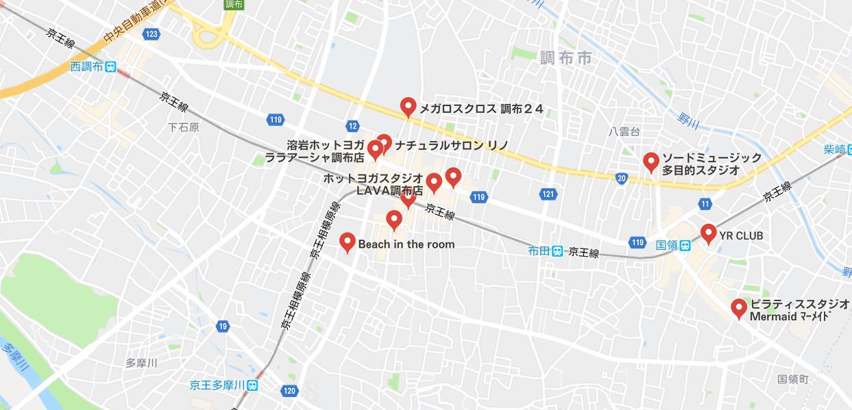 ヨガ調布マップ