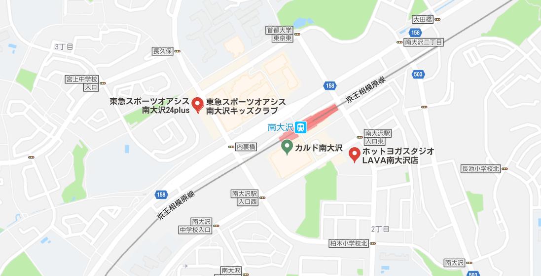 ヨガ南大沢マップ