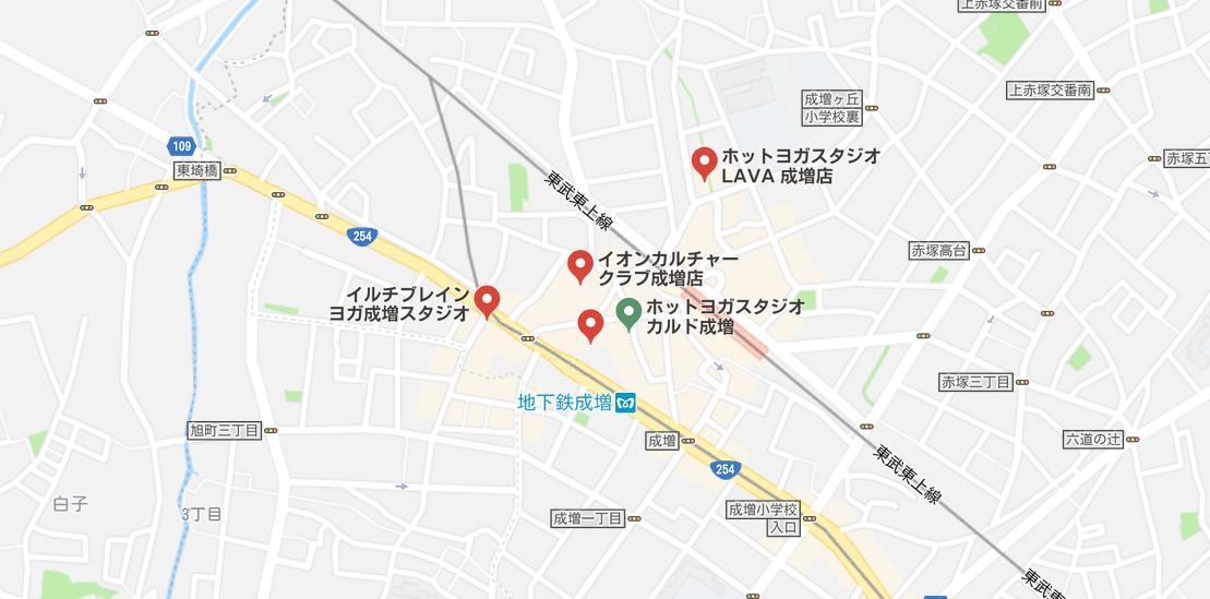 ヨガ成増マップ