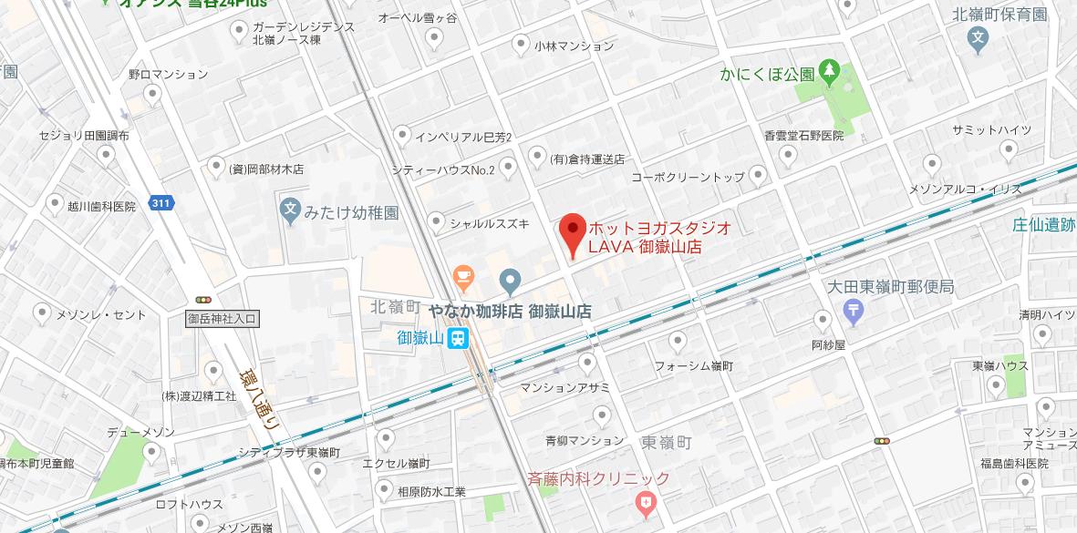 御嶽山駅周辺のヨガマップ