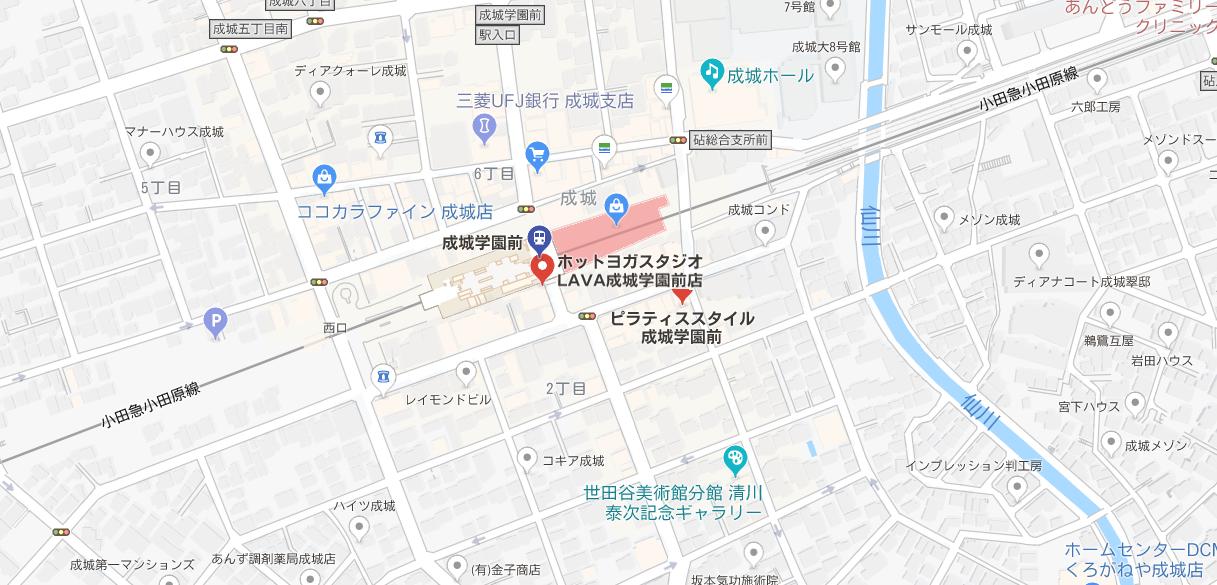 ヨガ成城学園前マップ